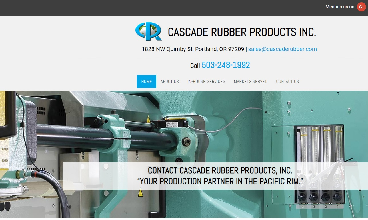 Cascade Rubber Products, Inc.