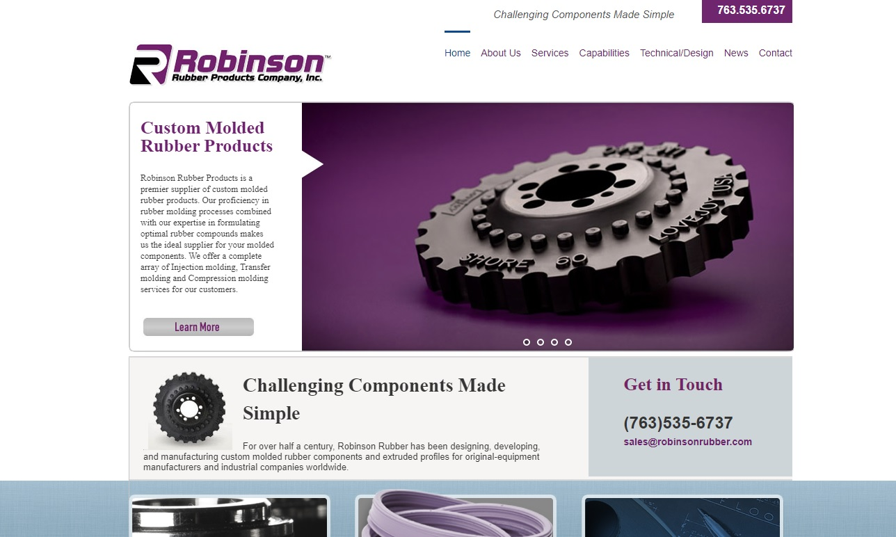 Robinson™ Rubber Products Company, Inc.